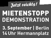 Jetzt reicht's! Mietenstopp Demo 3. September 2011